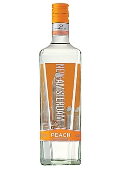 NEW AMSTERDAM PEACH VODKA 375ML