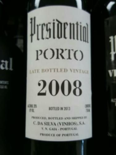 PRESIDENTIAL PORTO 2008 LATE VINTAGE 750ML