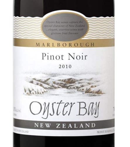 OYSTER BAY PINOT NOIR 2010 750ML