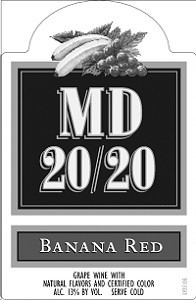 MD 20/20 BANANA RED 750ML