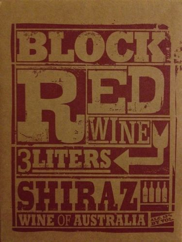 BLOCK RED SHIRAZ 3 LITERS