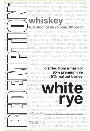 REDEMPTION WHITE RYE 750ML