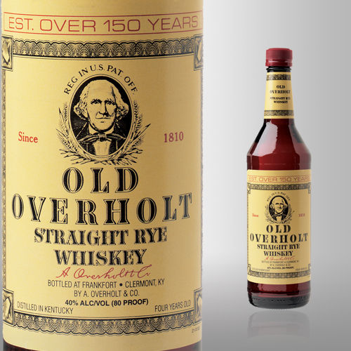 OLD OVERHOLT STRIGHT RYE 750ML