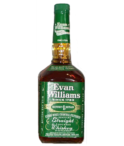 EVAN WILLIAMS GREEN LABEL BOURBON 1L