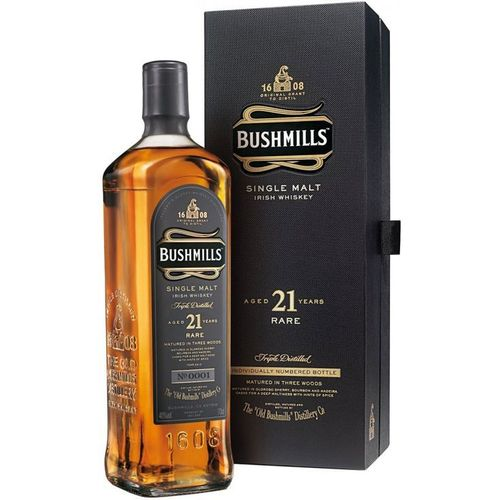 BUSHMILLS 21 YEARS  SINGLE MALT 750ML