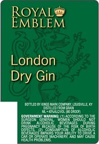 ROYAL LONDON DRY GIN 375ML