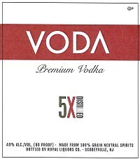 VODA 5X VODKA 750ML