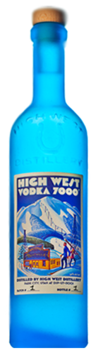 HIGH WEST 7000 VODKA  750ML