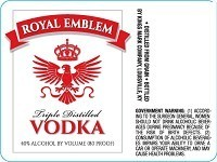 ROYAL EMBLEM VODKA 1L
